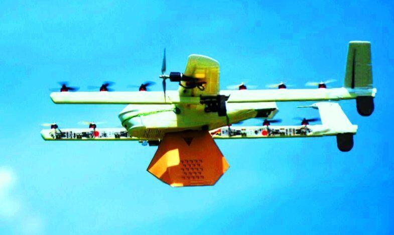 Доставка грузов беспилотными летательными аппаратами.